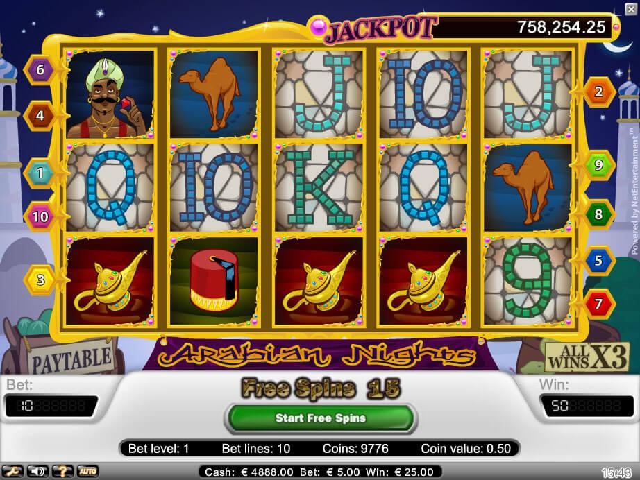 Arabian Nights Gokkast Netent Free Spins Feature