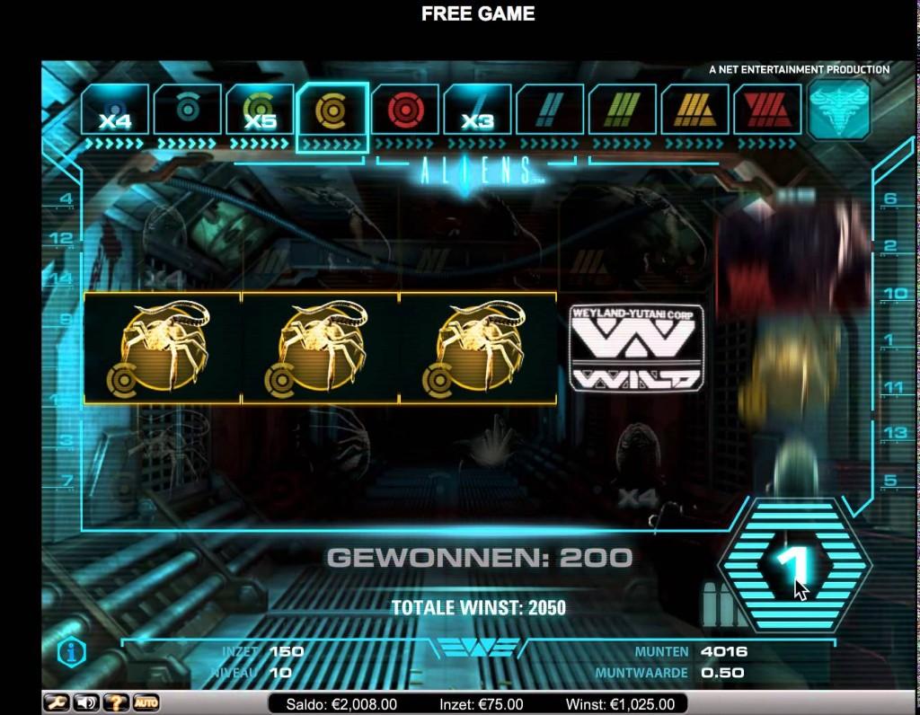 Aliens Gokkast Netent Bonusgame