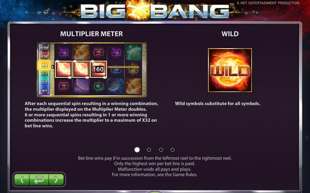 Big Bang slot Netent Multiplier