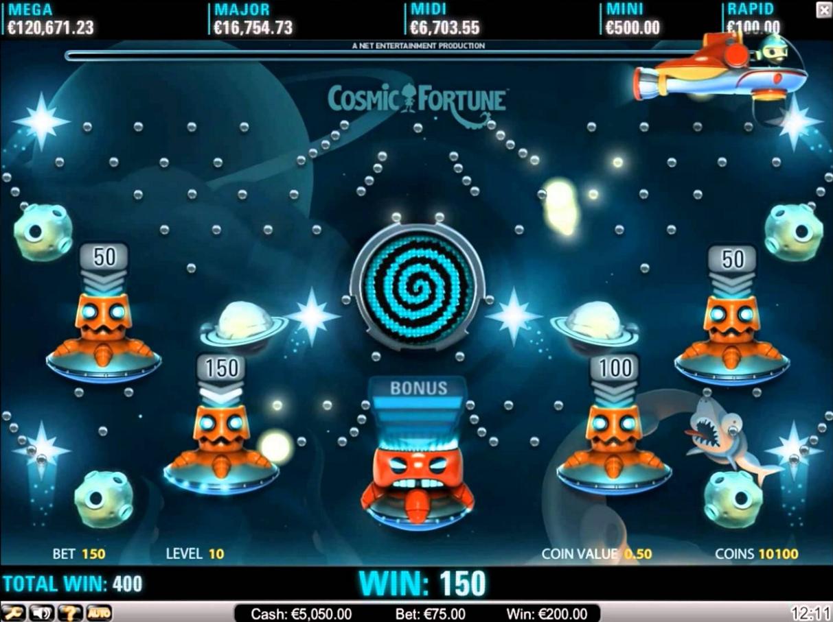 Cosmic Fortune Gokkast Netent Bonusgame