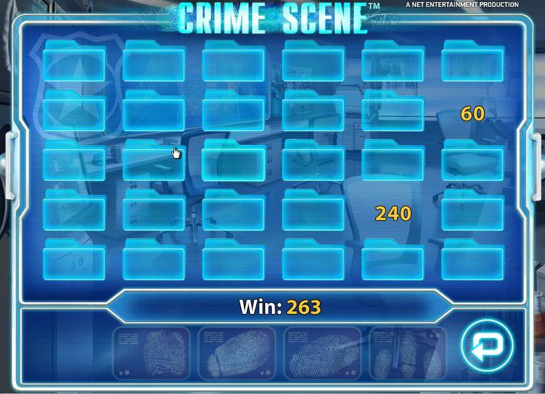 Crime Scene Gokkast Netent Bonusgame