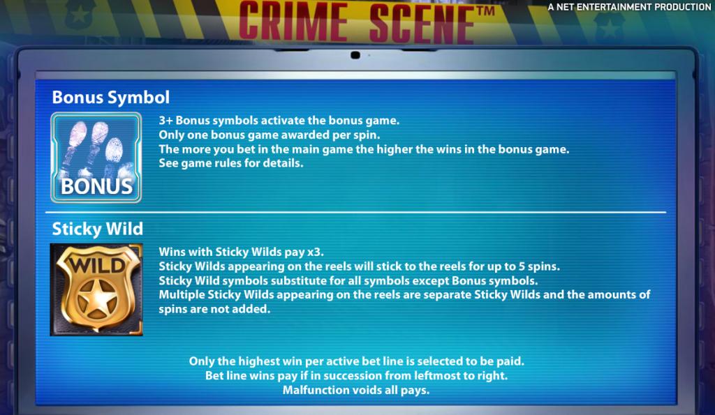 Crime Scene Slot Netent Wild