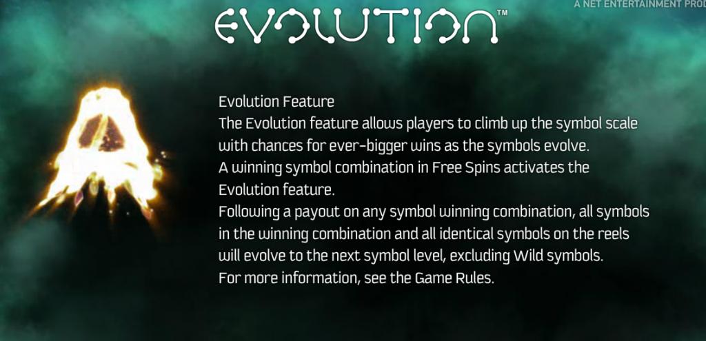 Evolution Gokkast Netent Features