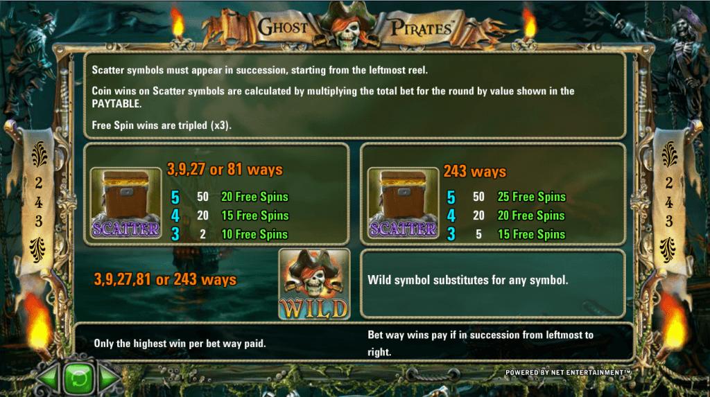 Ghost Pirates Gokkast NetEnt Free Spins