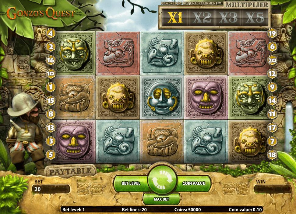 Hoe speel je Gonzos Quest Gokkast Netent