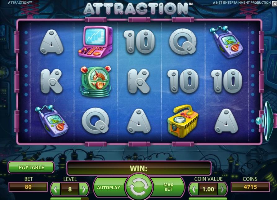 Hoe werkt Attraction Netent Gokkast