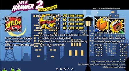 Jack Hammer 2 Gokkast Netent Free Spins