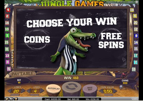 Jungle Games Gokkast Netent Bonusgame
