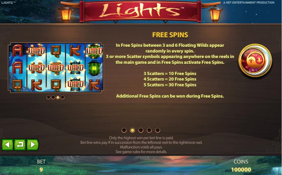 Lights Gokkast NetEnt Free Spins