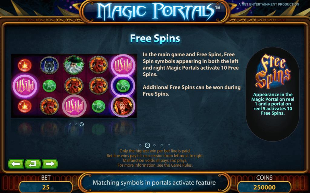 Magic Portals Gokkast NetEnt Free Spins
