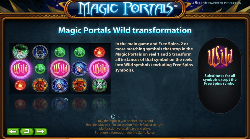 Magic Portals Gokkast NetEnt Wild