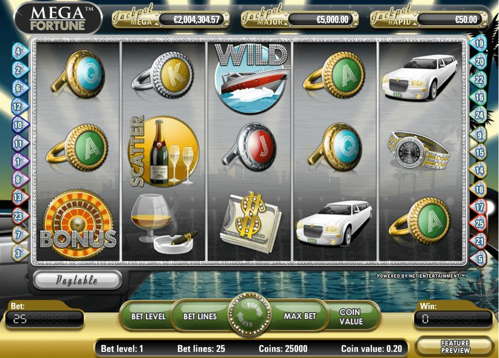Mega Fortune Gokkast Netent Winlijnen