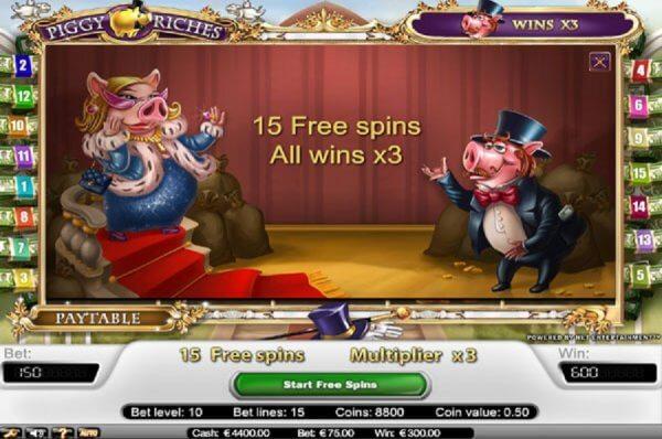 Piggy Riches Gokkast Netent Free Spins