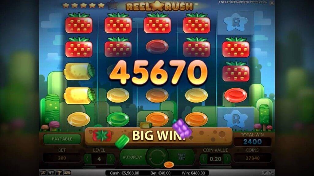 Reel Rush Gokkast Netent Big Win