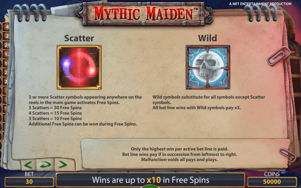 hoe speel je Mystic Maiden Gokkast NetEnt