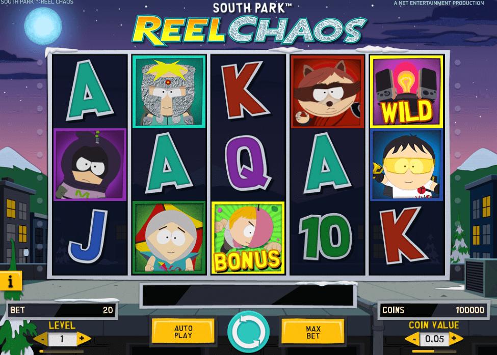 Hoe speel je South Park Reel Chaos Gokkast Netent