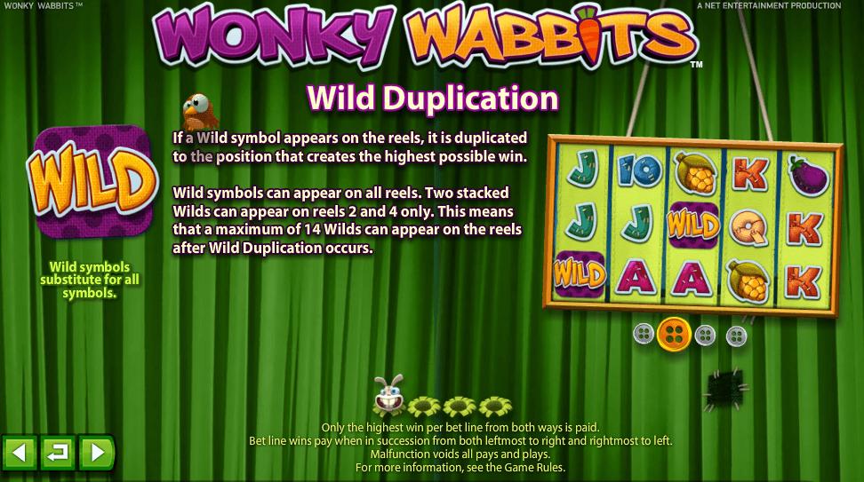 Hoe speel je Wonky Wabbits Gokkast Netent