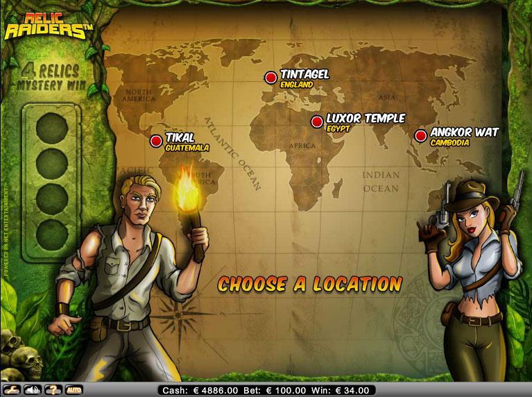 Relic Raiders Gokkast Netent Bonusgame