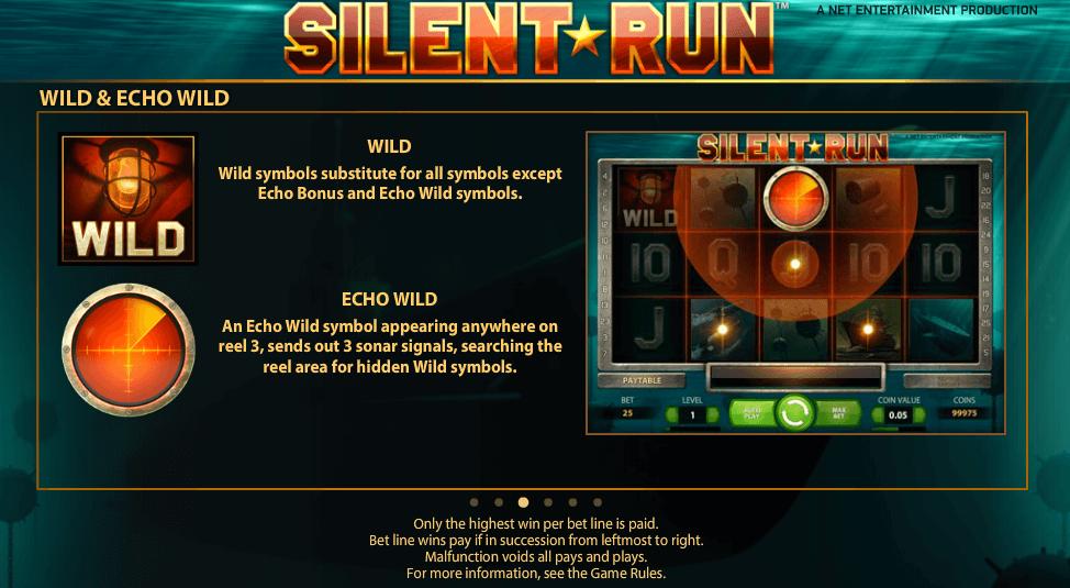 Silent Run Gokkast NetEnt Wild