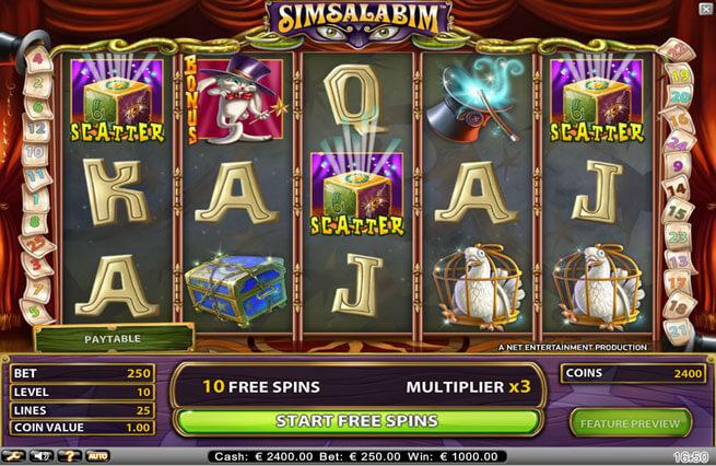 Simsalabim Gokkast Netent Free Spins