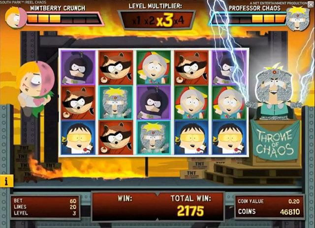 South Park Reel Chaos Gokkast Netent Bonusgame