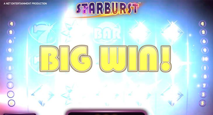 Starburst Gokkast Netent Big Win