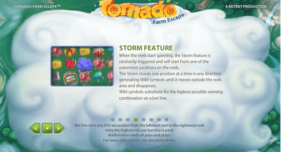 Tornado Farm Escape Gokkast Netent Storm Feature