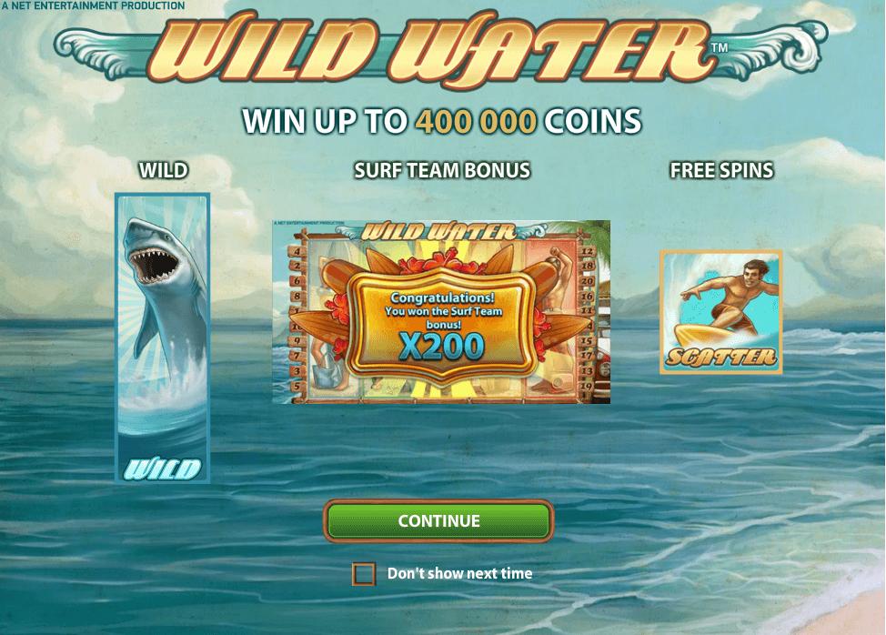 Wild Water Gokkast Netent Free Spins