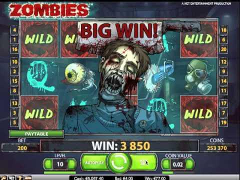 Zombies Gokkast Netent Big Win