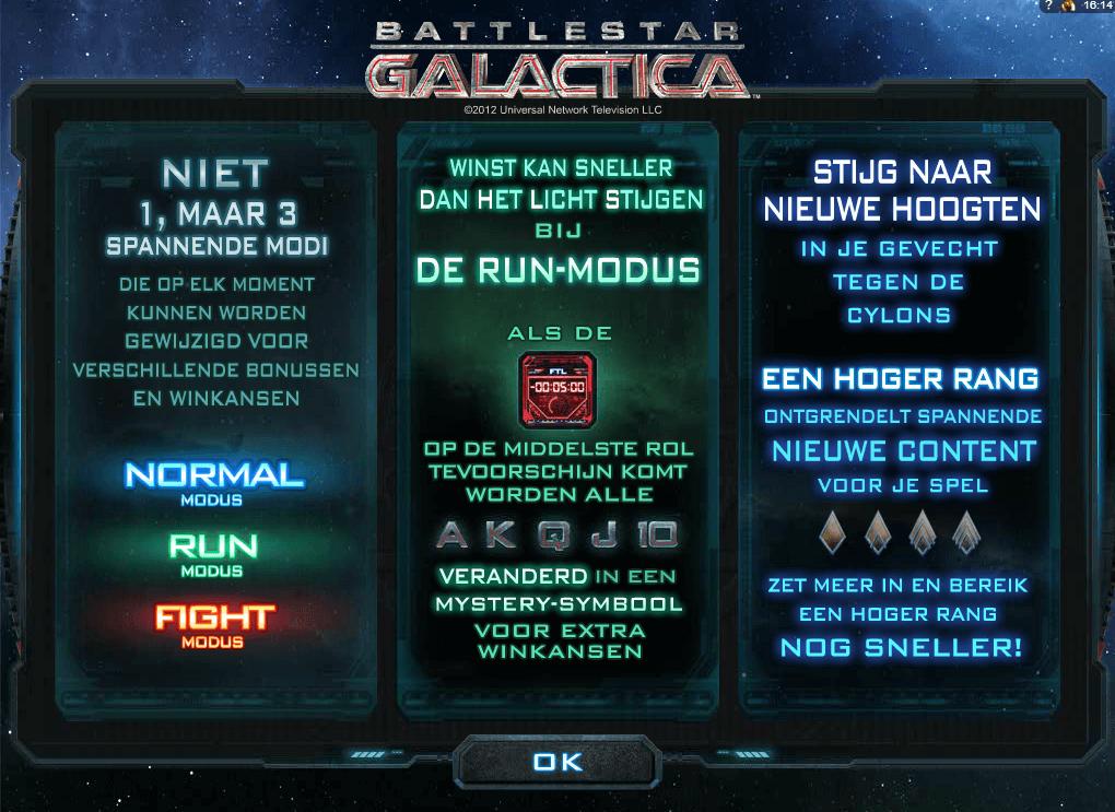 Battlestar Galactica Microgaming slot Modes