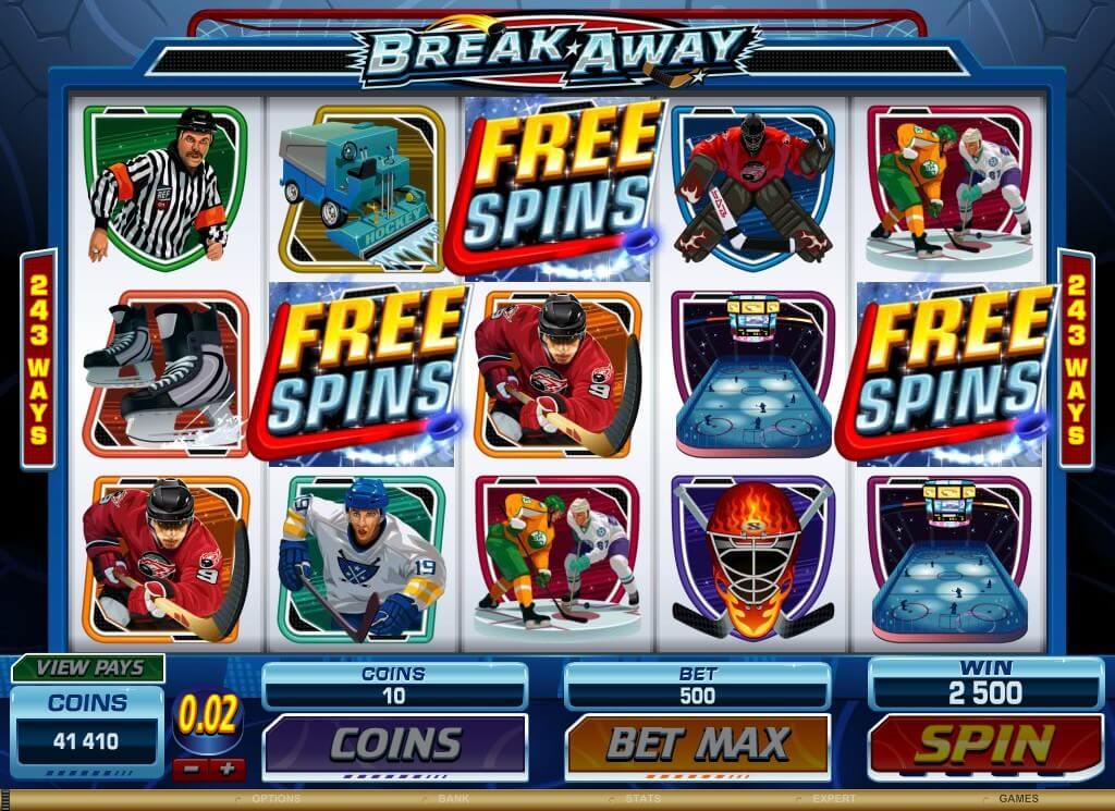 Break away Microgaming Slot Free Spins