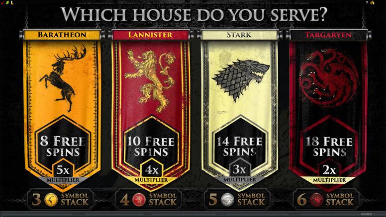 Game of Thrones Gokkasten Free Spins