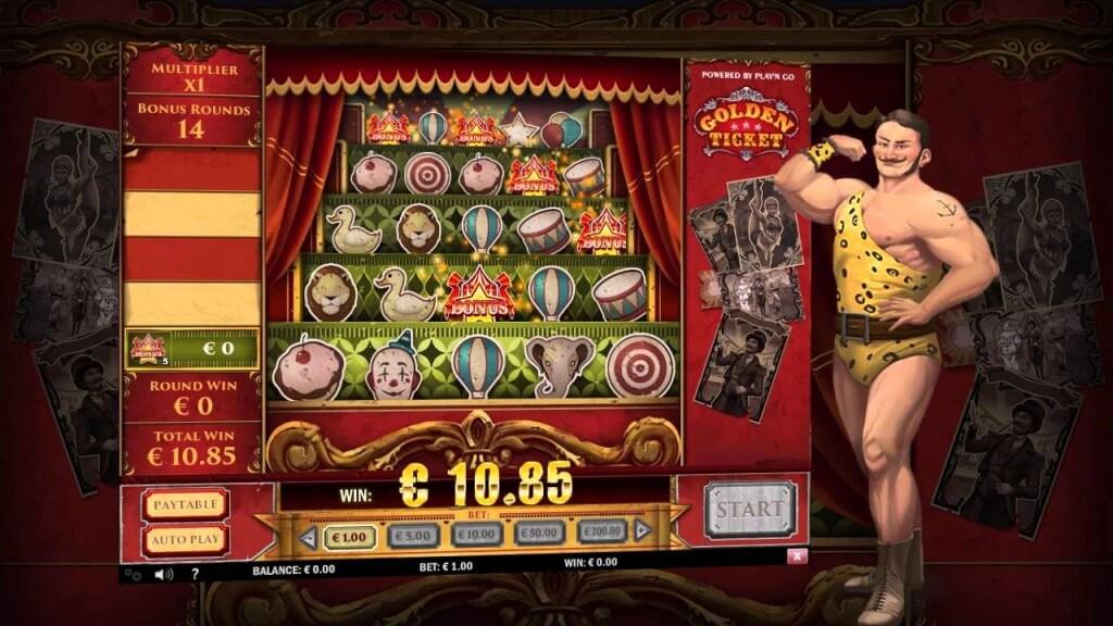 Golden Ticket Play'n Go Bonusgame