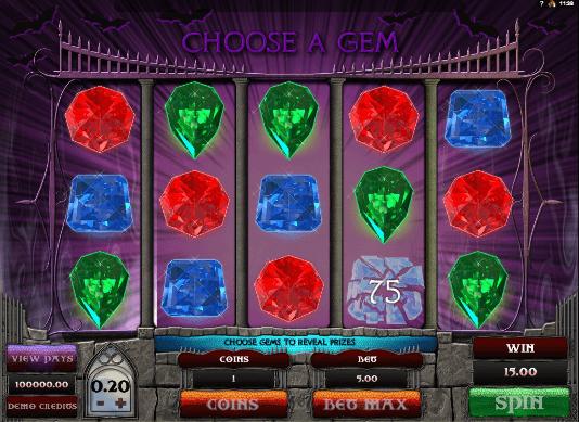 Gothic Gokkast Bonus game