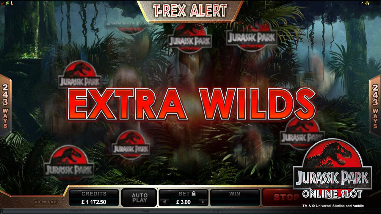 Jurassic Park Gokkast Wild Feature
