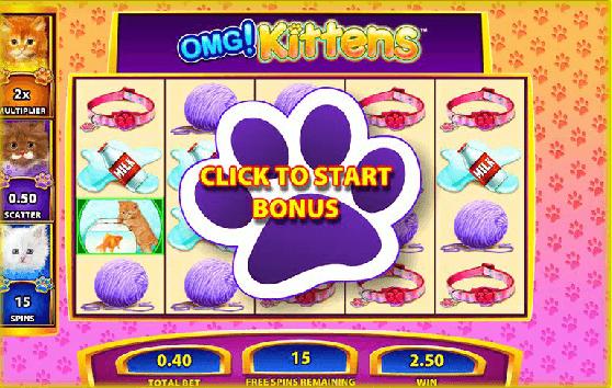 OMG Kittens Gokkast Bonusgame