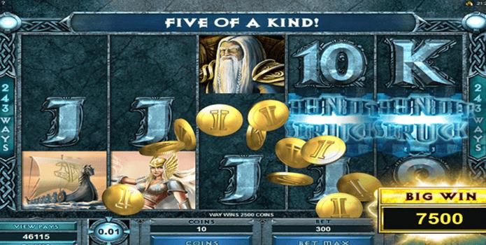 ThunderstruckII Gokkast Feature 5 of a kind