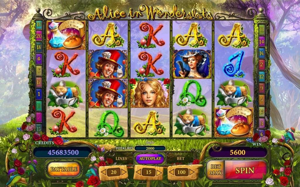 Alice in Wonderslots Playson Gokkast Hoe te spelen