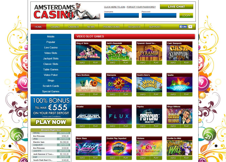 De gokkasten van Amsterdams Casino