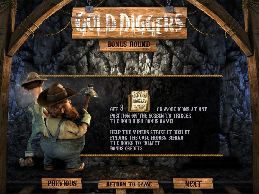 Gold Diggers Betsoft Gokkast Bonusgame