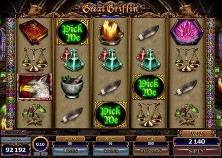 Great Griffin slot bonus game