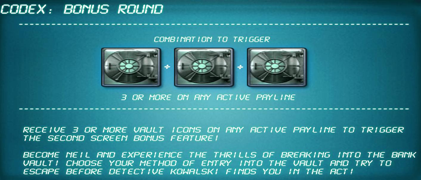 Heist Gokkast Bonus game
