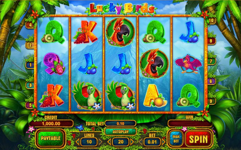 Hoe speel je Lucky Birds Playson Gokkast