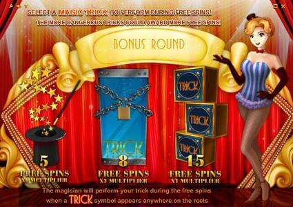 Illusions 2 slot Bonus Round game