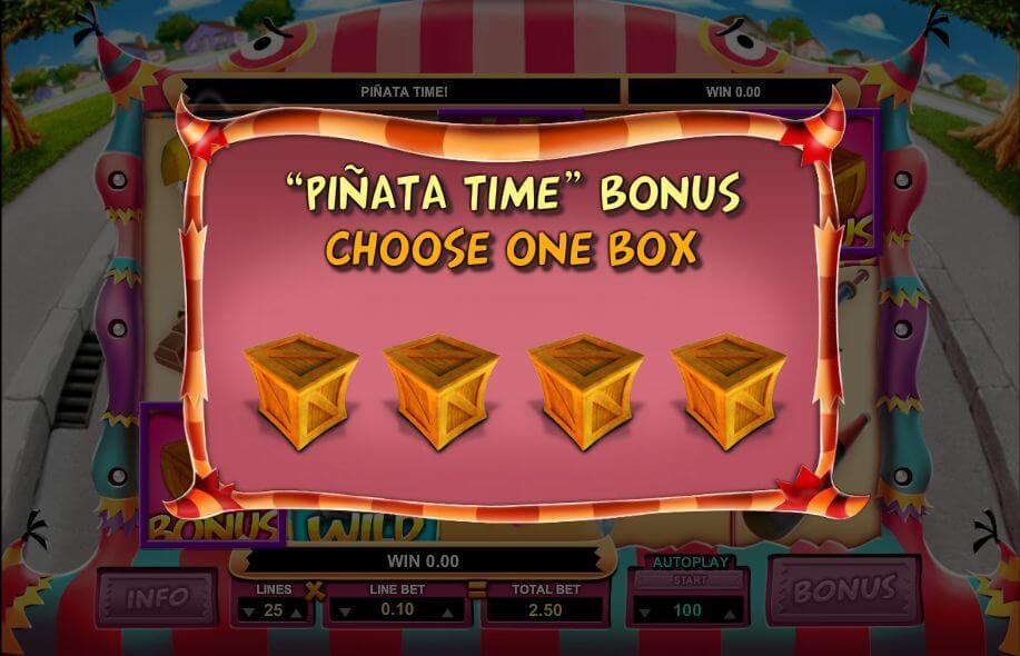 Mad Pinatas Gokkast Bonusgame