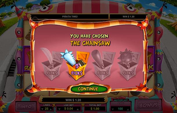 Mad Pinatas Gokkast Bonusgame2