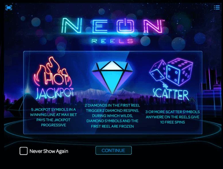 Neon Reels slot Feature
