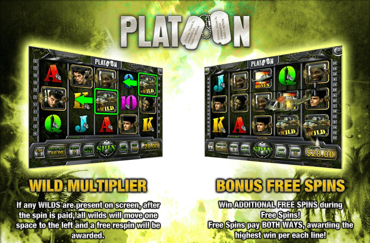 Platoon slot Free Spins