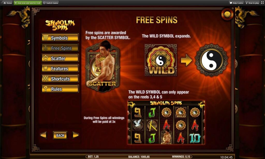 Shaolin Spin Gokkast Free SPins
