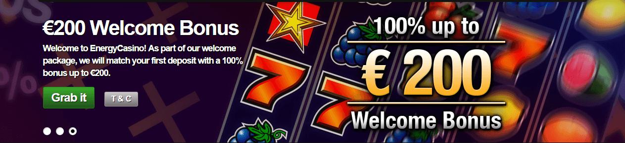 Energy Casino Welkomstbonus